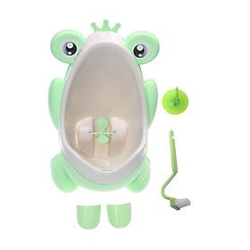 Bồn tiểu đứng Leacco hình ếch treo tường dành cho bé trai có lỗ thoát nước + Tặng kèm bộ quà tặng ( cọ vệ sinh , móc dán 3M , dây ống xả )