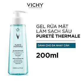 Gel Rửa Mặt Làm Sạch Sâu Vichy Purete Thermale Fresh Cleansing Gel 200ml