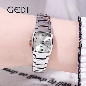 Đồng hồ nữ thời trang Hàn Quốc GEDI-52015 có lịch ngày, dây thép mặt nhỏ xinh - Hàng chính hãng