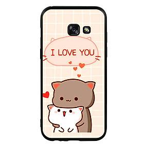 Ốp lưng viền TPU cho điện thoại Samsung Galaxy A3 2017 - I Love U