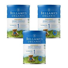 3 Lon Sữa Bột Bellamy's Organic Số 1 (900g)