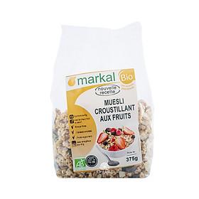 Ngũ cốc Muesli giòn trái cây hữu cơ Markal 375g