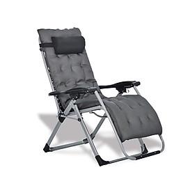Ghế xếp thư giãn cao cấp kèm đệm Kachi MK232 - Ghế xếp thông minh văn phòng - Trọng tải 300kg