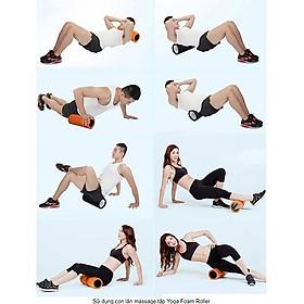 Con Lăn Foam Roller Massage Cơ Thể , Giãn Cơ , Gym , Fitness , Yoga