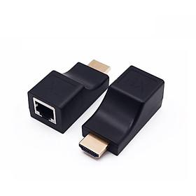 Bộ 4K HD Extender 30M Nối Dài HDMI Chuẩn 4K bằng Dây LAN 30m- Hàng nhập khẩu
