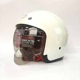 Nón bảo hiểm 3/4 kính âm Royal M139 Trắng ngọc trai cao cấp Lót tháo rời, che hết mặt