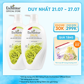 Combo 2 Sữa tắm hương nước hoa Enchanteur Delightful 650gr/ Chai
