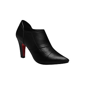 Giày Boot Nữ Cổ Thấp Chỉ Nối Rosata RO27 - Đen
