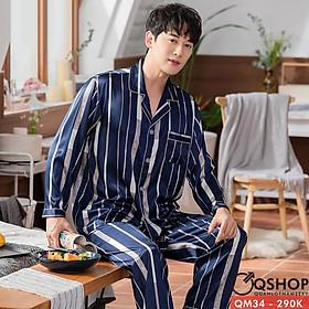 Bộ đồ ngủ đồ mặc nhà pijama nam QM34 QM94