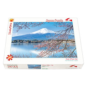 Tranh xếp Hình Tia Sáng  Núi Phú Sĩ Tia Sáng (2035 Mảnh Ghép)