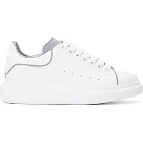 Sneaker trắng độn đế phản quang