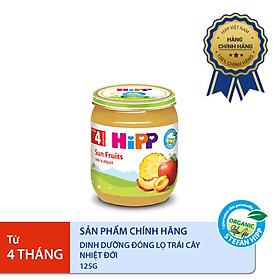 Dinh dưỡng đóng lọ ăn dặm Trái cây nhiệt đới HiPP Organic 125g