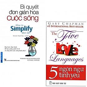 Combo 5 Ngôn Ngữ Tình Yêu, Bí Quyết Đơn Giản Hóa Tình Yêu (tặng kèm 6 bookmark ngỗ nghĩnh)