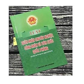 Sách - Luật quân nhân chuyên nghiệp,công nhân và  viên chức quốc phòng
