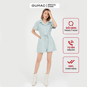 Jumpsuit nữ ngắn tay cánh dơi phối nơ eo GUMAC DB5114
