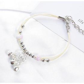 Vòng lắc tay gốm trường mệnh hồng cute vòng tay nữ phong cách cổ trang