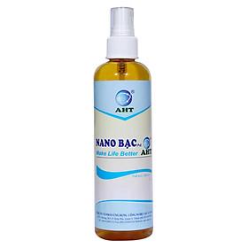 Chai Xịt Nano Bạc AHT Diệt Khuẩn Khử Mùi Tinh Khiết (250ml)