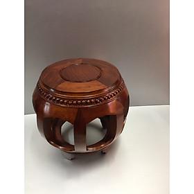 Đôn gỗ mẫu đôn hình cái trống, gỗ Hương vân xịn