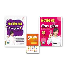 Combo  Học Tiếng Hàn Thật Là Đơn Giản  - Cho Người Mới Bắt Đầu +  Học Tiếng Hàn Thật Là Đơn Giản - Trình Độ Sơ Cấp + 3000 Từ Vựng Tiếng Hàn Theo Chủ Đề