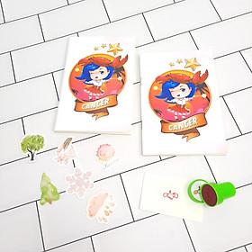 Bộ Sưu Tập Cá Tính Cung Hoàng Đạo Gồm 2 Sổ Tay Và 1 Con Dấu Tặng Kèm 6 Sticker Mini Mẫu Ngẫu Nhiên - Cự giải