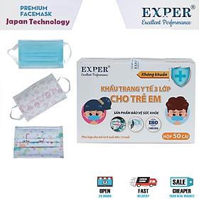 Khẩu Trang Y Tế EXPER 3 Lớp Kháng Khuẩn Giành Cho EM BÉ 6-13 TUỔI, Hộp 50 Cái