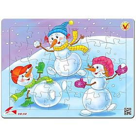Tranh Xếp Hình A4 30 Mảnh - Merry Christmas 030-150