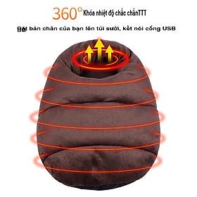 Túi sưởi ấm chân đa năng cổng sạc USB tiện dụng