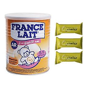 Sữa bột France Lait AR 400g – Tăng cường miễn dịch, giải pháp hiệu quả giúp cải thiện triệu chứng nôn trớ, trào ngược và đầy bụng cho trẻ từ 0-12 tháng tuổi – Tặng 03 bánh Quế cuộn vị trứng muối