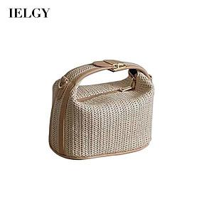 Túi đeo vai nữ IELGY họa tiết lượn sóng màu Khaki nhỏ xinh dễ phối đồ cho nữ