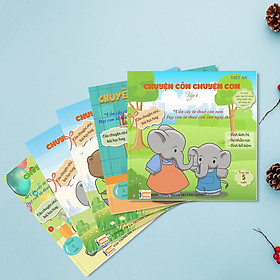 Sách rèn luyện ký năng cho bé từ 0-8 tuổi (combo 5 tập Chuyện Cỏn Chuyện Con Tập 1+2 + 3+ 4+5 (Voi Con Tinh Nghịch + Voi Con Hiếu Động + Voi Con Đáng Yêu + Voi Con Ham Chơi + Voi Con Gây Chuyện )