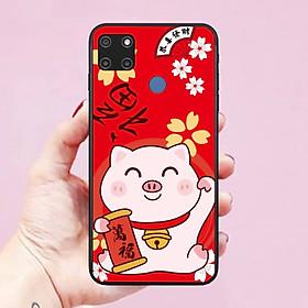 Ốp lưng điện thoại dành cho Realme C12 Hình Mèo Thần Tài