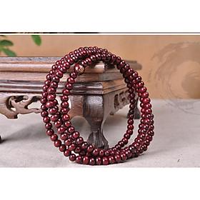 Combo chuỗi đeo tay tràng hạt Phật Giáo, 108 hạt, Gỗ Tự nhiên, Khắc kinh Phật, kèm túi Nhung.
