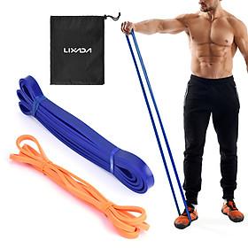 Bộ 2 dây cao su kháng lực siêu bền hỗ trợ tập yoga kèm túi đựng