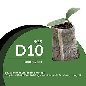 Viên Nén Xơ Dừa Trồng Ngó Dâu Thông Minh SGS (set 100 viên) đã bao gồm phân bón hữu cơ cho cây phát triển tốt trong 30 ngày