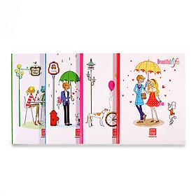Vở 4 ô ly 200 trang Class Beautiful Life 0404 (5 quyển)