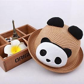 Hình đại diện sản phẩm Mũ nón cói hình gấu trúc thoáng mát có tai ( cho bé 2-5 tuổi )