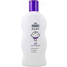 Dầu massage và dưỡng ẩm nhẹ dịu cho bé chiết xuất hoa cúc và cỏ hương bài Nuage 300ml