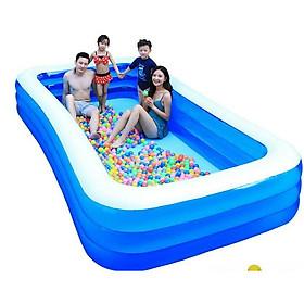 Bể bơi phao cho bé và gia đình KT 305*173*56cm tặng bơm điện 2 chiều cao cấp