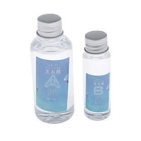 2 Bottles Clear A+B Resin Crystal Epoxy Glue For Pendants Coating DIY Gifts