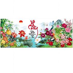 Decal dán tường thư pháp đẹp Vợ Chồng UD0238 100 x 40 cm