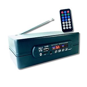Bộ Thu Tín Hiệu Bluetooth 5.0 (v3.5) AMITECH Chip Giải Mã Âm Thanh Chất Lượng Cao, Nghe đài FM, Nghe Nhạc Từ Thẻ Nhớ/USB, 1 Jack 3.5mm, 2 Cổng RCA - Hàng Chính Hãng