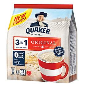 Thức Uống Yến Mạch Quaker 3in1 - Vị Truyền Thống 420g