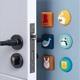 Nút chặn cửa Combo 4 nút chống chạm cửa CUTE, miếng nhựa đệm sau cửa giảm tiếng động, chống trầy GD291-NCC-CUTE-4