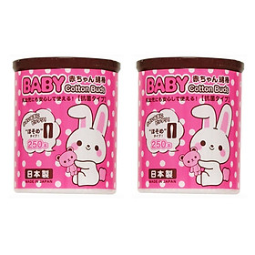Combo 2 hộp 250 bông ngoáy tai kháng khuẩn cho bé nội địa Nhật Bản