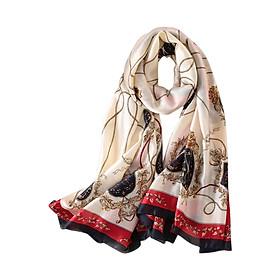 Khăn Choàng Cổ Nữ Lụa Hàng Châu Thời Trang - KLHC21601 (90 x 373 cm)
