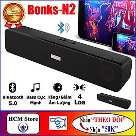 Loa Bluetooth V5.0 Bonks N2 Âm Thanh Cực Hay, Bass Cực Mạnh, Pin 1200mAh Sử Dụng Lên Đến 10h - HÀNG CHÍNH HÃNG