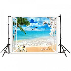 Phông Nền Chụp Ảnh Bãi Biển 3D