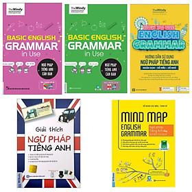 COMBO 5 QUYỂN SÁCH NGỮ PHÁP TIẾNG ANH ( NGỮ PHÁP TIẾNG ANH CĂN BẢN chibi - Ngữ pháp tiếng anh căn bản bìa xanh - Giải thích ngữ pháp tiếng anh - Hướng dẫn sử dụng ngữ pháp tiếng Anh - Mindmap English Grammar Ngữ pháp tiếng Anh bằng sơ đồ tư duy)