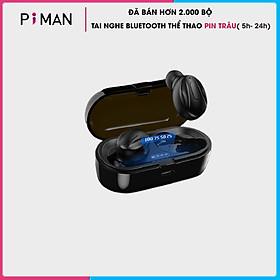 Tai Nghe Bluetooth 5.0 không dây nhét tai mini thể thao Gaming pin trâu- Đèn LED hiển thị Phần Trăm Pin - Hàng chính hãng - TNBT14