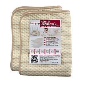 Combo 2 tấm lót chống thấm cho bé Organic Good Cotton Babyup. Size 50x70cm. Miếng lót chống thấm 4 lớp, mềm mại, thoáng khí